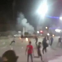 Screen capture from video of protests about water in Iran, June 30, 2018. (Twitter)