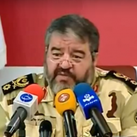 Brigadier General Gholam Reza Jalali of Iran's Civil Defense Organization (Screen capture: YouTube)
