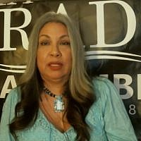 Screen capture from video of Maria Estrada, candidate for the 63rd Assembly District California. (YouTube)