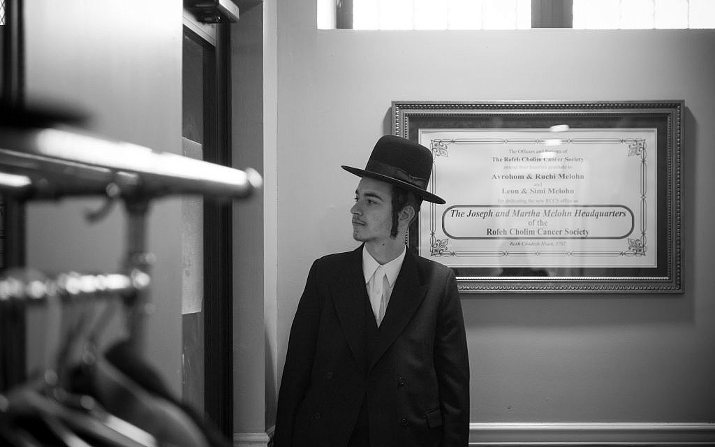 Ari Hershkowitz while still in Hasidic mode of dress. (Nathan Stolz)
