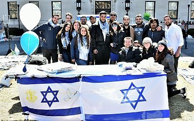 """Illustrative: Students at a """"Hebrew Liberation Week"""" event at Columbia University, initiated in 2017  (Maccabee Task Force)"""