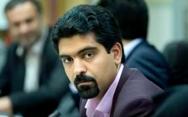 Sepanta Niknam, a Zoroastrian member of the City Council of Yazd, Iran. (screen capture: YouTube)