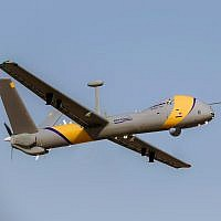 An Elbit Systems Ltd. Hermes 900 StarLiner drone, capable of flying in domestic, civilian airspace alongside commercial jets. (Elbit Systems Ltd.)