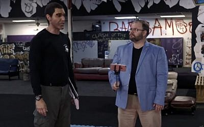 Sacha Baron Cohen as 'Erran Morad,' and Georgia State Rep. Jason Spencer (YouTube screen capture)
