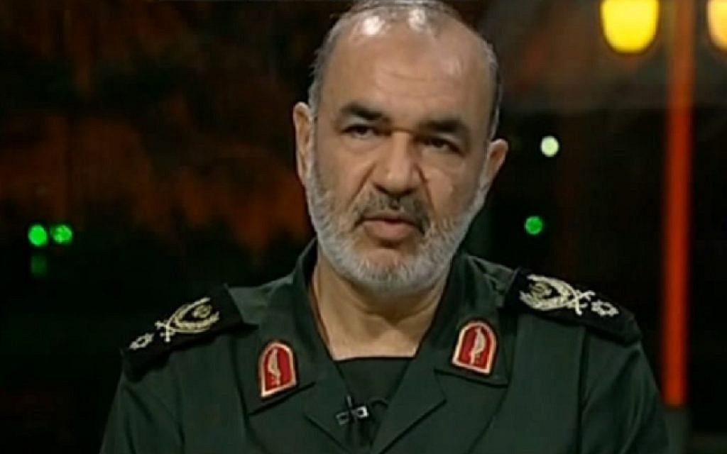 IRGC Deputy Commander Hossein Salami. (YouTube screen capture)