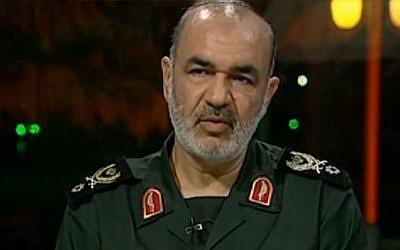 IRGC Deputy Commander Hossein Salami. (YouTube screen capture)