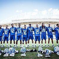 Israel's national lacrosse team (Courtesy Federation of International Lacrosse)