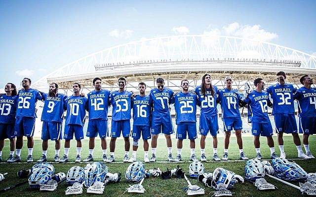 Israel's national lacrosse team (Courtesy Federation of International Lacrosse)