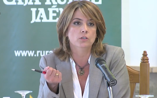 Spanish Justice Minister Dolores Delgado. (YouTube screenshot)