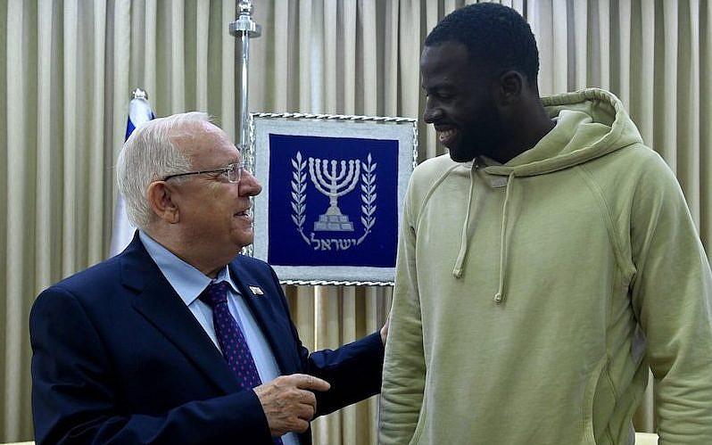 Golden State Warriors forward Draymond Green meets with Israeli President  Reuven Rivlin in Jerusalem 8fb704e8a4e9