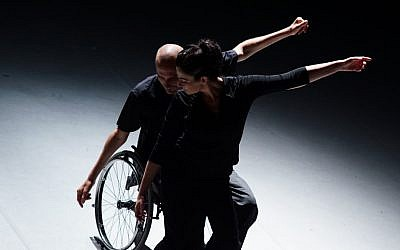 Hai Cohen (left) and Tali Wertheim in their Power of Balance duet. (Courtesy, Vertigo)