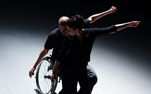Hai Cohen (left) and Tali Wertheim in their Power of Balance duet. (Courtesy, Vertigo)