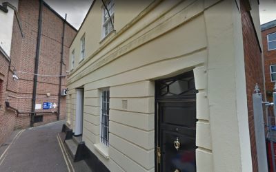 The Exeter Synagogue in Exeter, England. (Google Street View screenshot)