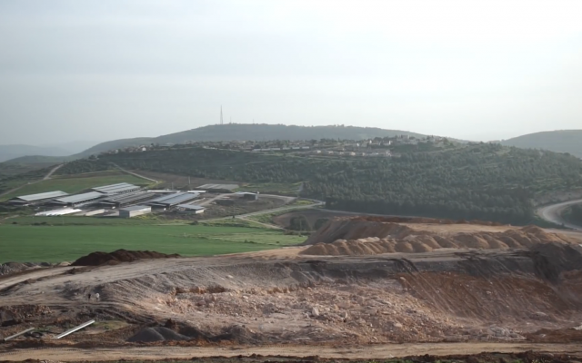 Mount Gilboa as seen from the construction site of the Maale Gilboa pumped-storage hydroelectricity plant in northern Israel. (YouTube screen capture)