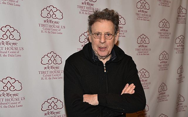 Philip Glass at a party celebrating his 80th birthday at Gotham Hall in New York City, March 16, 2017. (Theo Wargo/Getty Images for Tibet House US/via JTA)