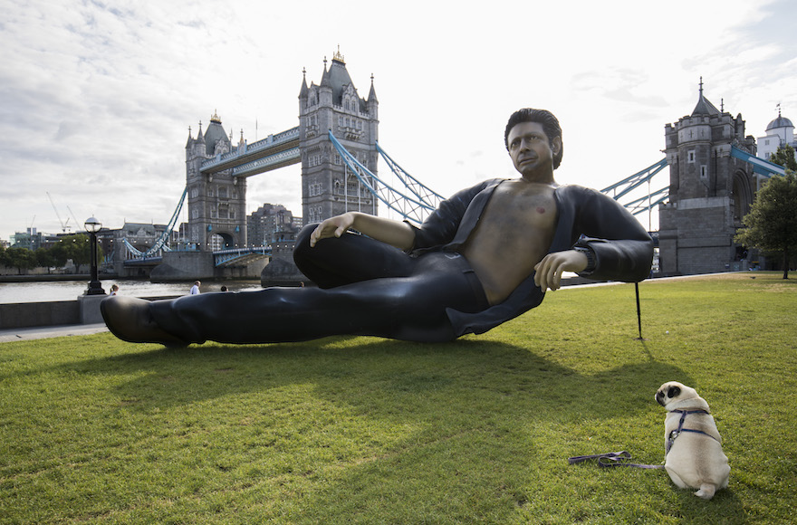 Giant, Bare-Chested Jeff Goldblum Statue Erected For Jurassic Park Anniversary