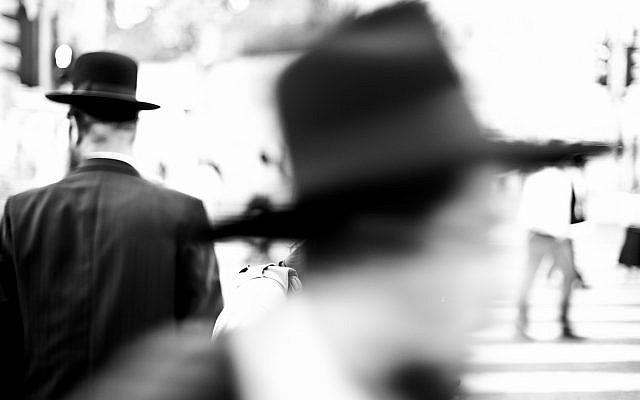 Illustrative photo of ultra-Orthodox men ((Raw Herring/Flickr via JTA)