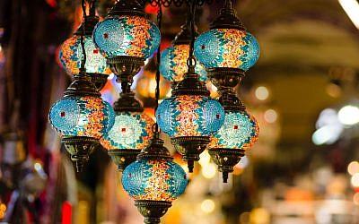 Illustrative: Turkish mosaic lamps in an Istanbul bazaar. (iStock)