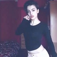 Maedeh Hojabri, an Iranian teen who was detained in May 2018 for posting dance videos on her Instagram account. (screen capture: Twitter)