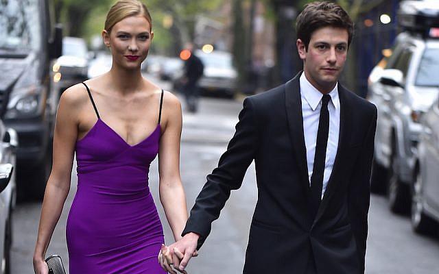Karlie Kloss and Joshua Kushner on April 26, 2016 in New York City (Alo Ceballos/GC Images via JTA)