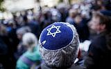 An illustrative photo of a man wearing a kippah. (Carsten Koall/Getty Images)