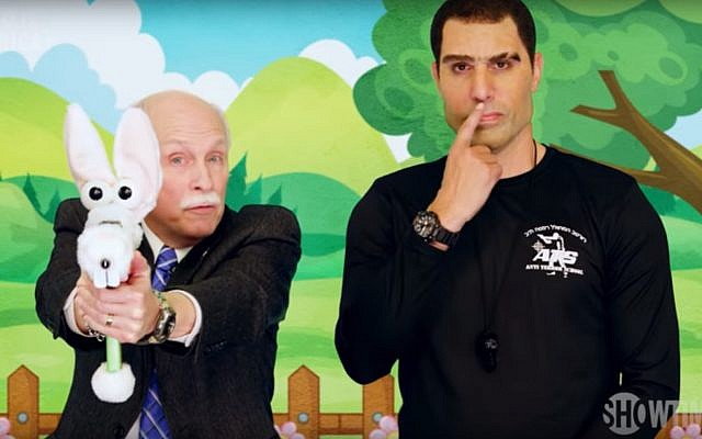 Sacha Baron Cohen in Who Is America?, July 2018 (YouTube screenshot)