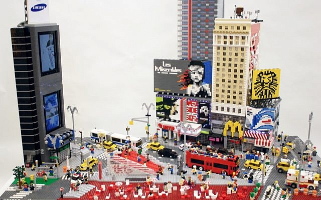 Sean Kenney's Times Square sculpture, in Lego (Courtesy Sean Kenney)