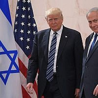 US President Donald Trump (left) with Israeli Prime Minister Benjamin Netanyahu at the Israel Museum in Jerusalem, May 23, 2017. (Mandel Ngan/AFP/Getty Images via JTA)