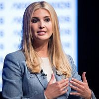 Ivanka Trump participates in a conversation on workforce development and news of the day at the Newseum in Washington on August 2, 2018. (AFP/ Jim WATSON)