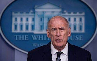 US Director of National Intelligence Dan Coats speaks during a press briefing at the White House in Washington, DC, on August 2, 2018. (AFP PHOTO / NICHOLAS KAMM)