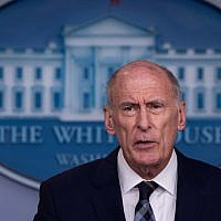 US Director of National Intelligence Dan Coats speaks during a press briefing at the White House in Washington, DC, on August 2, 2018. (AFP Photo/Nicholas Kamm)