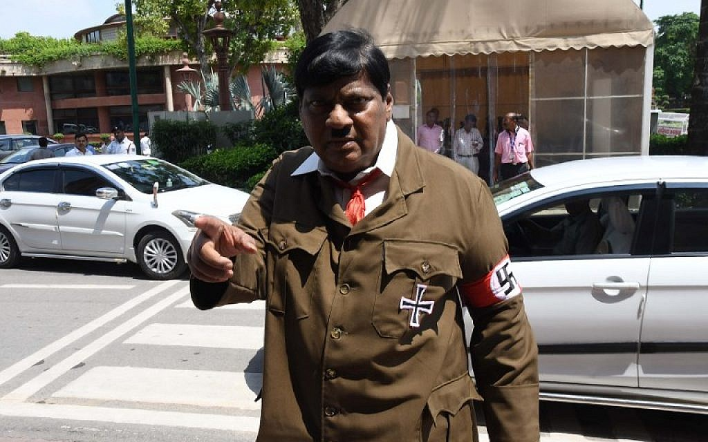 Indian lawmaker dons Hitler costume to criticize Modi