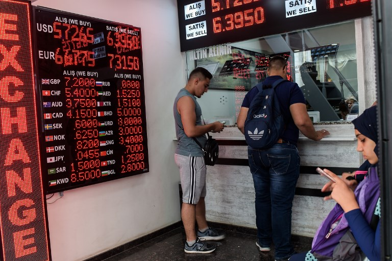 Markets rattled as Turkish lira dives