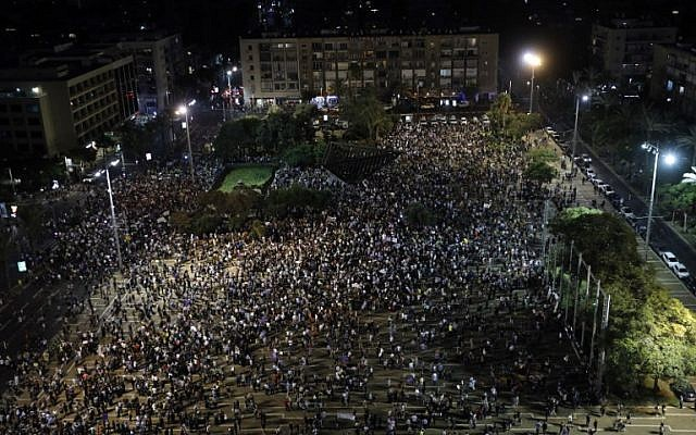 Netanyahu: Arab rally in Tel Aviv threatened our existence