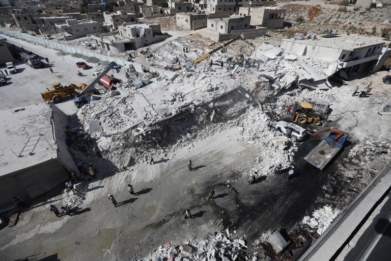 Syria weapons depot blast kills 12 civilians