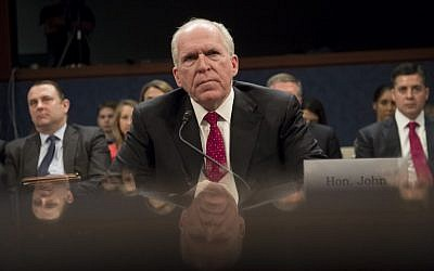 In this file photo taken on May 23, 2017, former CIA Director John Brennan testifies during a House Permanent Select Committee on Intelligence hearing about Russian actions during the 2016 election on Capitol Hill in Washington, DC. (AFP PHOTO / SAUL LOEB)