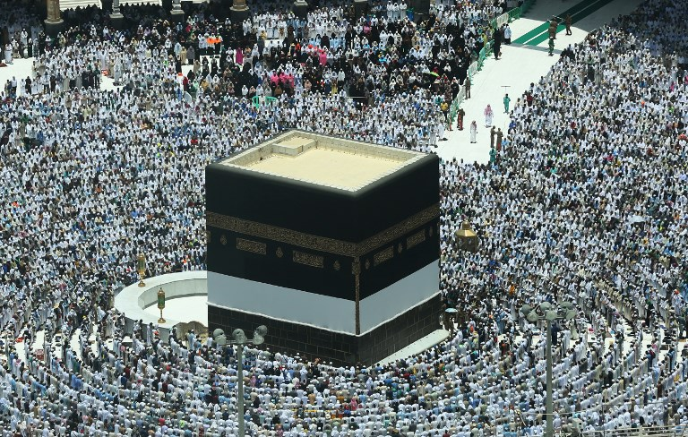 Stunning images show Mecca preparing for the world's single largest gathering