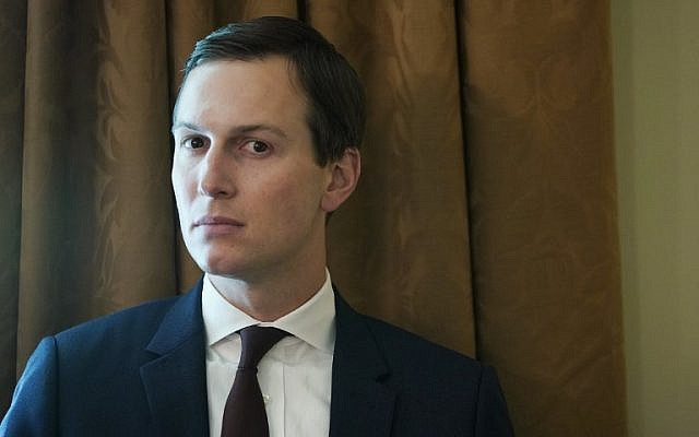Jared Kushner, US President Donald Trump's senior adviser and son-in-law, attends a Cabinet meeting at the White House on August 16, 2018. (AFP Photo/Mandel Ngan)