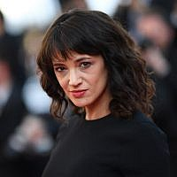 "In this file photo taken on May 19, 2018 Italian actress Asia Argento arrives for the closing ceremony and the screening of the film ""The Man Who Killed Don Quixote"" at the 71st edition of the Cannes Film Festival in Cannes, southern France. (AFP PHOTO / Loic VENANCE)"