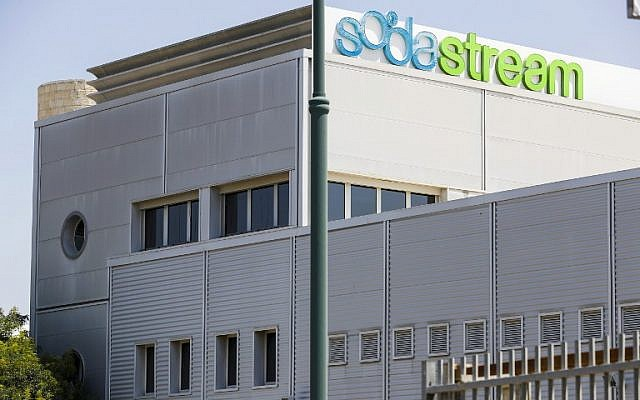 A picture taken August 20, 2018, shows the headquarters of SodaStream in the central Israeli city of Lod. (AFP Photo/Jack Guez)