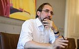 Outgoing United Nations High Commissioner for Human Rights Zeid Ra'ad Al Hussein reacts during an interview with AFP on August 20, 2018, in his office in Geneva (AFP PHOTO / Fabrice COFFRINI)