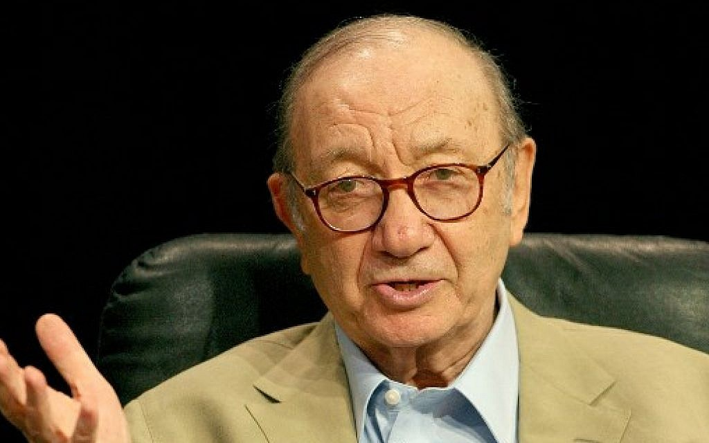 In this file photo taken on July 27, 2006 playwright Neil Simon speaks onstage during the 2006 Summer Television Critics Association Press Tour for PBS held at the Ritz-Carlton Huntington Hotel in Pasadena, California (AFP PHOTO / GETTY IMAGES NORTH AMERICA / FREDERICK M. BROWN)