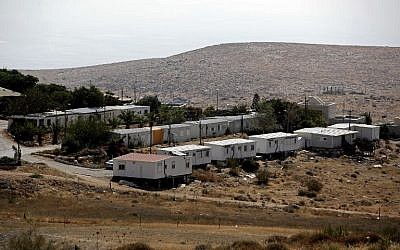 A general view shows the Israeli settlement of Mitzpe Kramim in the West Bank, on August 29, 2018. (AFP / THOMAS COEX)