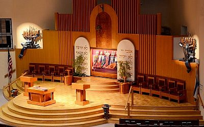 The sanctuary at the Washington Hebrew Congregation, a Reform synagogue in Washington DC. (Washington Hebrew Congregation website)