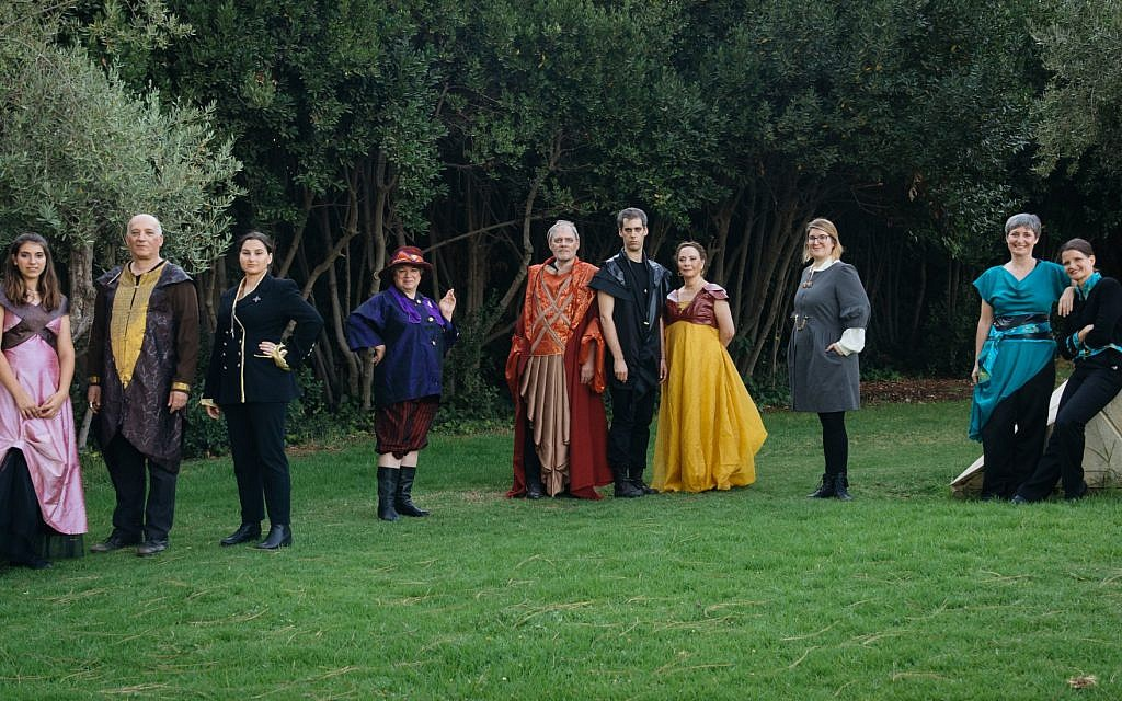 Cast of Theater in the Rough's production of 'Hamlet.' (Yitz Woolf)