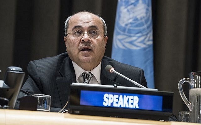 Ahmed Tibi addressing a special meeting of the Committee on the Exercise of the Inalienable Rights of the Palestinian People on November 29, 2017. (UN/Kim Haughton)