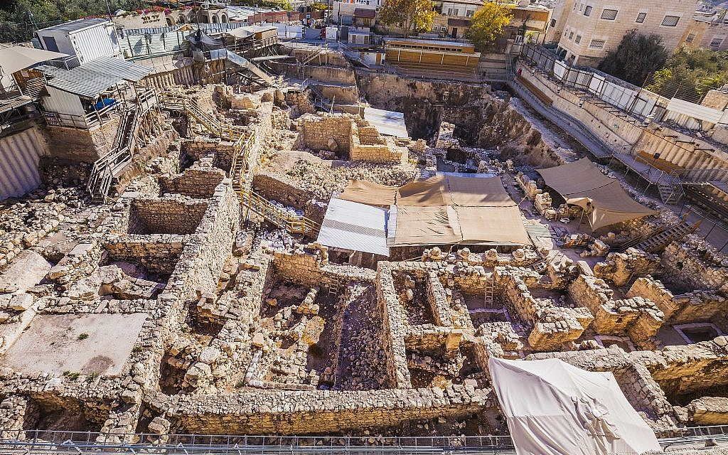 Excavations at the Givati Parking Lot in the City of David. (Kobi Harati, City of David)