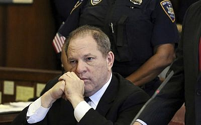 In this file photo from July 9, 2018, Harvey Weinstein attends his arraignment in court, in New York. (Jefferson Siegel/The Daily News via AP, Pool, File)