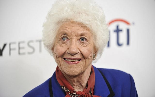 "In this Sept. 15, 2014 photo, Charlotte Rae arrives at the 2014 PALEYFEST Fall TV Previews - ""The Facts of Life"" Reunion in Beverly Hills, Calif. (Richard Shotwell/Invision/AP, File)"
