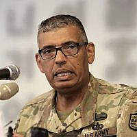 US Gen. Vincent Brooks commander of the United Nations Command, US Forces Korea and Combined Forces Command, speaks during a press conference at the Seoul Foreign Correspondents Club in Seoul, South Korea, August 22, 2018. (AP Photo/Ahn Young-joon)